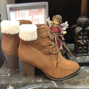 Shoes - Faux Leather Booties